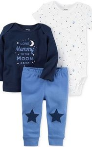 Carter's Baby Boy 3-piece Stars Top Pants Bodysuit